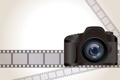 Camera and film background Royalty Free Stock Image