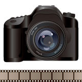 Camera and film background Royalty Free Stock Photos