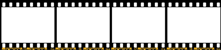 Camera film. Camera film band. Vector Illustration Stock Photo
