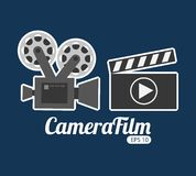Camera film design. Vector illustration eps10 graphic Royalty Free Stock Photos