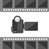 Camera film design. Vector illustration eps10 graphic Stock Images