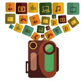 Camera film design. Vector illustration eps10 graphic Royalty Free Stock Photo