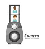 Camera film design Stock Photos