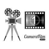 Camera film design. Vector illustration eps10 graphic Royalty Free Stock Images