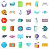 Camera film icons set, cartoon style. Camera film icons set. Cartoon style of 36 camera film vector icons for web isolated on white background Royalty Free Stock Image