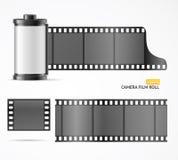 Camera Film Roll Cartridge. Vector. Camera Film Roll Cartridge, Blank Slide and Filmstrip for Equipment. Vector illustration Stock Photo