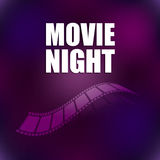 Camera film roll. With special design, movie night background Royalty Free Stock Photo