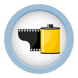 Camera film roll, vector illustration. In cartoon style Royalty Free Stock Photography