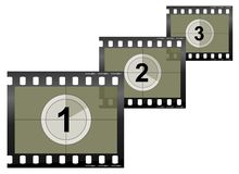 Camera Film Strip. Image of a camera/video film strip Royalty Free Stock Photography