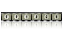 Camera Film Strip. Image of a camera/video film strip Royalty Free Stock Photos