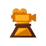 Camera film trophy awards gold. Vector illustration eps 10 Royalty Free Stock Photo