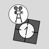 Camera film vintage with movie countdown film. Vector illustration eps 10 Stock Photos