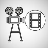 Camera film vintage with movie film strip. Vector illustration eps 10 Royalty Free Stock Image