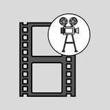 Camera film vintage with movie film strip. Vector illustration eps 10 Stock Photography