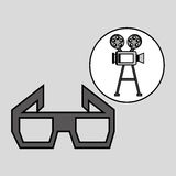 Camera film vintage with movie glasses. Vector illustration eps 10 Royalty Free Stock Photography
