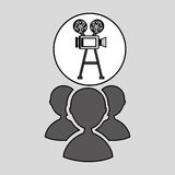 Camera film vintage with movie group. Vector illustration eps 10 Royalty Free Stock Image