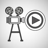 Camera film vintage with movie play. Vector illustration eps 10 Stock Photos
