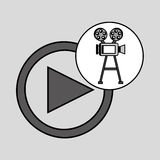 Camera film vintage with movie play. Vector illustration eps 10 Royalty Free Stock Images