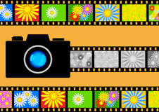 Camera with films Stock Photography