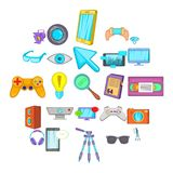 Camera for films icons set, cartoon style. Camera for films icons set. Cartoon set of 25 camera for films vector icons for web isolated on white background vector illustration