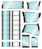 Camera filmstrip retail tags Royalty Free Stock Images
