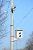Camera of fixing of violation of traffic regulations Royalty Free Stock Photography