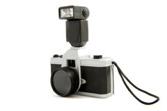 Camera with flash Stock Photo
