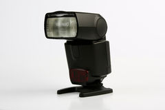 Camera Flash. A off Camera body Flash with Stand Royalty Free Stock Images