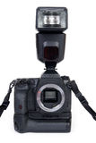 Camera with flash Stock Image
