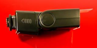 Camera flash. A closeup of a camera flash with reflector Stock Image