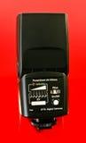 flashgun. A closeup of a camera flashgun Stock Image