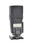 Camera flash. Black camera flash isolated on white background Royalty Free Stock Images