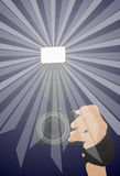 The camera with flash Royalty Free Stock Image