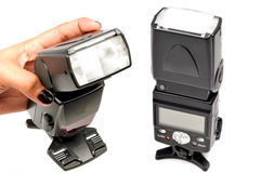 Camera flash stock photos