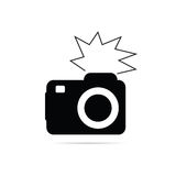 Camera flash black and white vector Royalty Free Stock Images