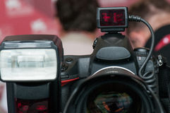 Camera and flash Royalty Free Stock Images