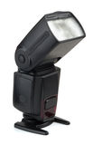Camera flash. On a white background Stock Photo