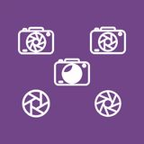 camera flat design, web icon flat design Royalty Free Stock Image