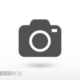 Camera - flat icon. Camera flat icon. Sign Camera. Vector logo for web design, mobile and infographics. Vector illustration eps10. Isolated on white background stock image