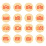 Camera flat icons set Royalty Free Stock Photo