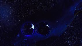 Camera is flying through the blue and magenta coloured nebula. stock footage