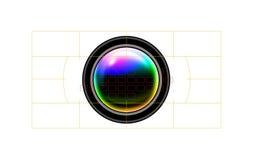 Camera focal points. On white stock illustration