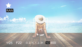 Camera Focus Capture Memories Photography Preview Concept Stock Images