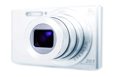 Camera, focused on lens, colour and focus manipulated Royalty Free Stock Photography