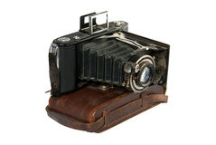 Camera folding bellows camera old Stock Photos