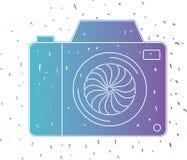 Camera fotografisch ge?soleerd pictogram royalty-vrije illustratie
