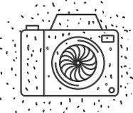 Camera fotografisch ge?soleerd pictogram stock illustratie
