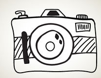 Camera - freehand sketch Royalty Free Stock Photos