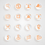 Camera functions menu icons set Royalty Free Stock Photos