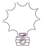 Camera gadget sketch design. Camera gadget sketch silhouette icon. picture and photography theme. Isolated design. Vector illustration Royalty Free Stock Image